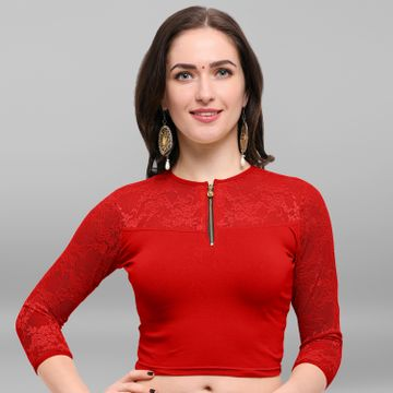 Janasya | Janasya Women's Cotton Lycra Stitch Blouse