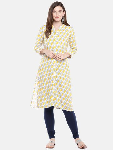 Ethnicity   Ethnicity Cotton Churidar Women Navy Leggings