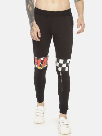 KULTPRIT | Printed Slim fit Joggers With Zipper