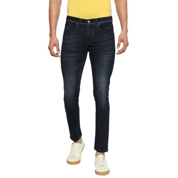 LAWMAN Pg3 | Lawman Pg3 Casual Cotton Lycra Skinny Fit Solid Black Blue Shade Color Mens Jeans