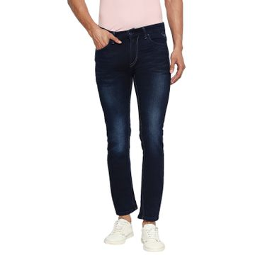LAWMAN Pg3 | Lawman Pg3 Casual Cotton Lycra Skinny Fit Solid Prussian Blue Shade Color Mens Jeans