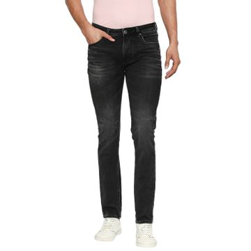 LAWMAN Pg3 | Lawman Pg3 Casual Cotton Lycra Skinny Fit Solid Charcoal Shade Color Mens Jeans