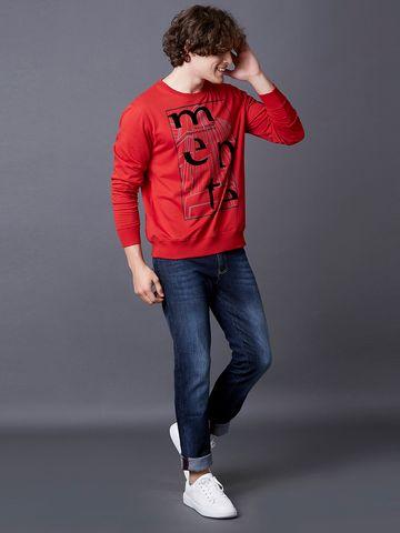 MARCA DISATI | Red Nova Printed Sweatshirt