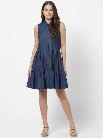 MARCA DISATI   Denim Sleeveless Short Dress