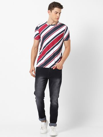 MARCA DISATI | Diagonal Stripes T-shirt