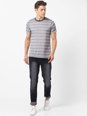 MARCA DISATI | Contrast Neck Striped T-Shirt