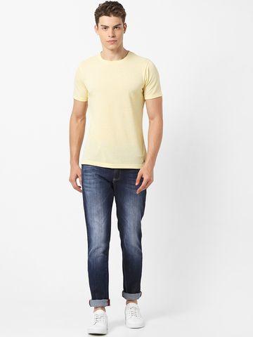 MARCA DISATI | Regular Fit Linen Blend T-Shirt