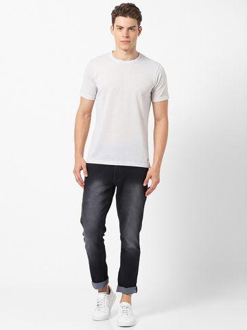 MARCA DISATI | Linen Blend Textured Fabric T-Shirt