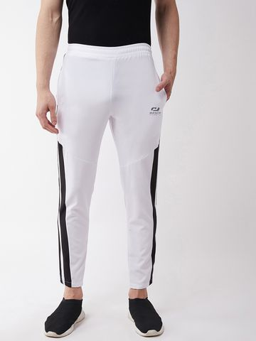 Masch Sports | Masch Sports Men's Regular Fit White Soft Polyester Track Pants