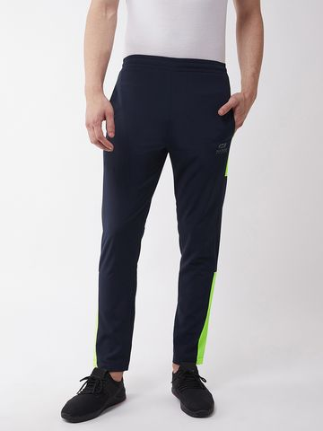 Masch Sports | Masch Sports Men's Regular Fit Navy Blue Soft Polyester Track Pants