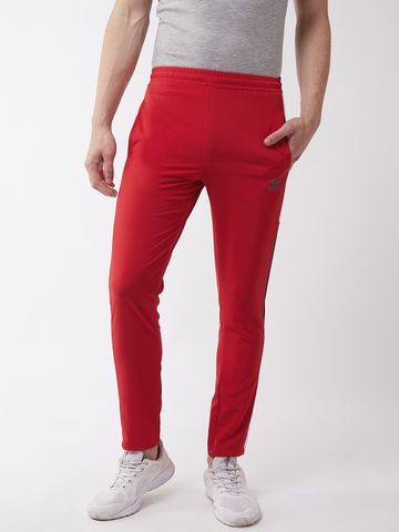 Masch Sports | Masch Sports Men's Regular Fit Red Soft Polyester Track Pants