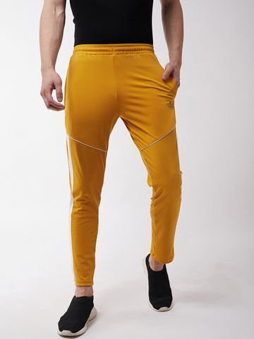 Masch Sports | Masch Sports Men's Regular Fit Mustard Yellow Soft Polyester Lycra Track Pants