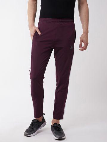 Masch Sports | Masch Sports Men's Regular Fit Maroon Soft Polyester Track Pants