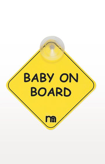 Mothercare | Mothercare Yellow Baby On Board Sign
