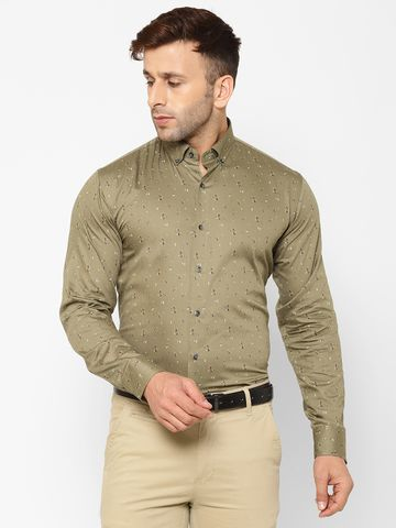 Eppe | EPPE Men's Printed Smart Fit Full Sleeves Cotton Casual/Partywear Shirt