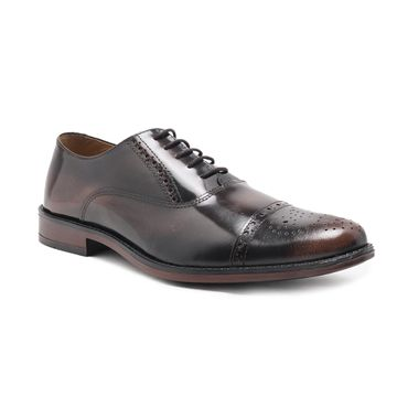 Noble Curve | Noble Curve  Leather Oxford Shoes with Brogues Detaling