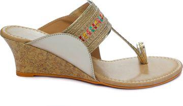 Trends & Trades   Women Gold Heels