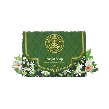 LUXURIATE   LUXURIATE Parijat Essence of Natural Shine Saop Bar for Men and Women,125gm