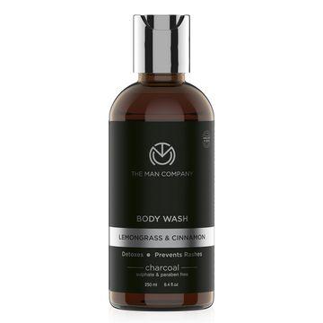 The Man Company | Charcoal Lemongrass & Cinnamon Body Wash - 250 ML