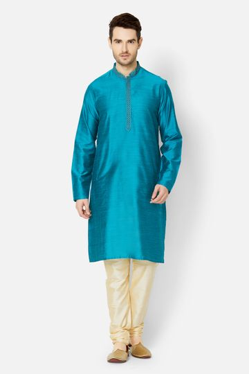 Ethnicity | Sea Green Art Silk kurta