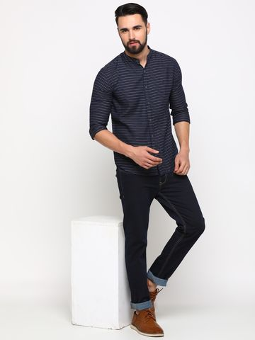 Showoff | SHOWOFF Men's Cotton Multi Striped Shirt