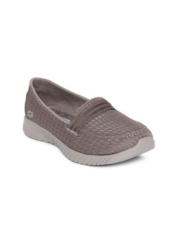 Skechers | Grey Skechers Women Woven Design Wave-Lite- Side By Side Loafers