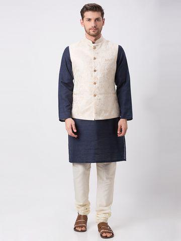 Ethnicity   Ethnicity Full Sleeve Occasion Men Cream Jackets