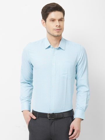 SOLEMIO | Blue Checks Formal Shirt