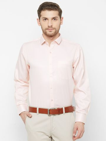 SOLEMIO | Pink Solid Formal Shirt