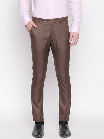 SOLEMIO | Solemio Poly Viscose Blend Ankle Length Trouser For Mens