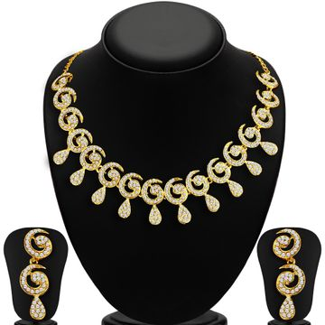 SUKKHI | Sukkhi Sublime Gold Plated Austrian Diamond Necklace Set For Women