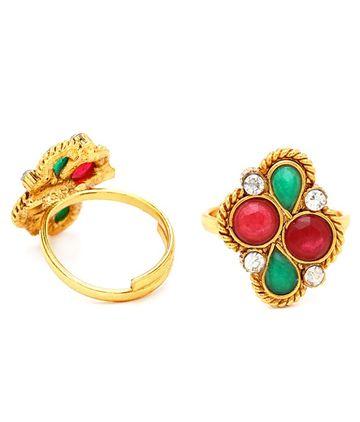SUKKHI | Sukkhi Creative Gold Plated Austrian Diamond Stone Studded Toe ring