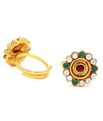 SUKKHI | Sukkhi Elegant Gold Plated Austrian Diamond Stone Studded Toe ring