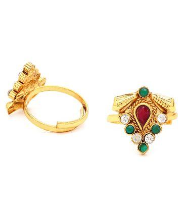 SUKKHI | Sukkhi Delightly Gold Plated Austrian Diamond Stone Studded Toe ring
