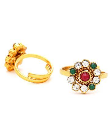 SUKKHI | Sukkhi Brilliant Gold Plated Austrian Diamond Stone Studded Toe ring