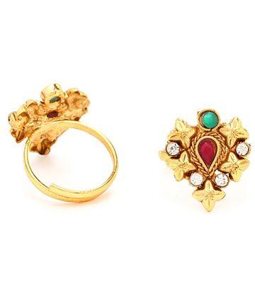 SUKKHI | Sukkhi Magnificent Gold Plated Austrian Diamond Stone Studded Toe ring