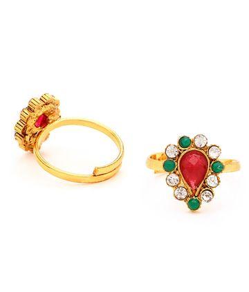 SUKKHI | Sukkhi Glorious Gold Plated Austrian Diamond Stone Studded Toe ring