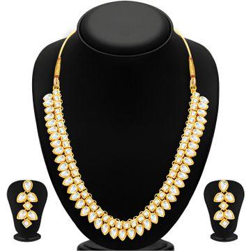 SUKKHI | Sukkhi Youthful Gold Plated Kundan Necklace Set For Women
