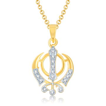 SUKKHI | Sukkhi Glamorous Gold And Rhodium Plated Cubic Zirconia Stone Studded God Pendant