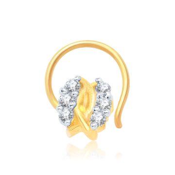 SUKKHI | Sukkhi Modern Gold And Rhodium Plated Cz Nose Pin