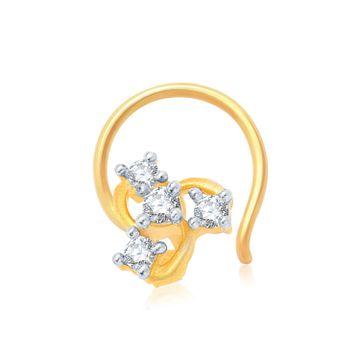 SUKKHI | Sukkhi Glimmery Gold And Rhodium Plated Cz Nose Pin