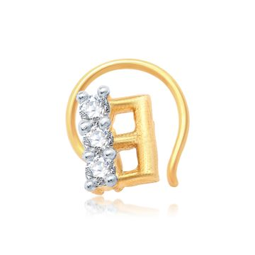 SUKKHI | Sukkhi Stunning Gold And Rhodium Plated Cz Nose Pin