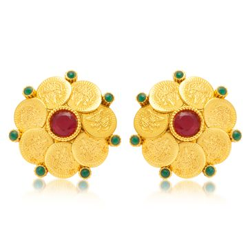 SUKKHI | Sukkhi Gorgeous Gold Plated Temple Jewellery Stud Earring For Women