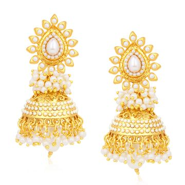 SUKKHI | Sukkhi Incredible Gold Plated Pearl Jhumki Earring For Women