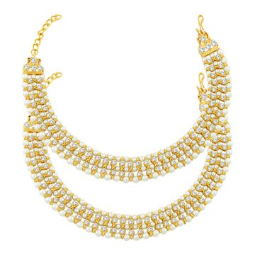 SUKKHI | Sukkhi Glorious Gold Plated Pearl Anklet For Women