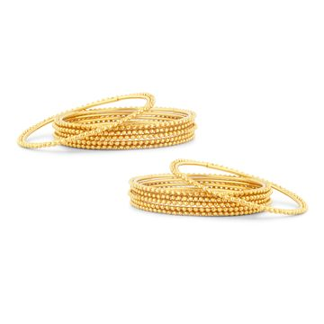 SUKKHI | Sukkhi Glimmery Gold Plated Bangles Set of 12 For Women