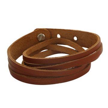 SUKKHI | Sukkhi Fancy Brown Leather Striped Bracelet For Men