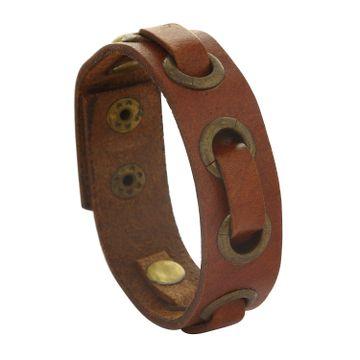 SUKKHI | Sukkhi Stylish Brown Leather Wristband Bracelat For Men