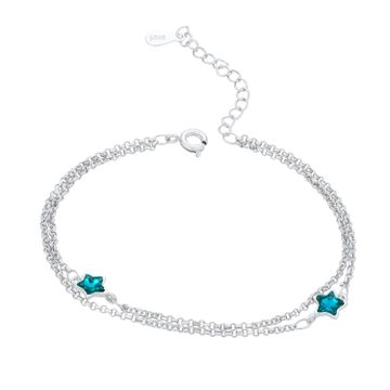 SUKKHI | Sukkhi Modern Adjustable Blue Crystal Rhodium Plated Bracelet for Men