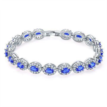 SUKKHI | Sukkhi Appealing Adjustable Blue Crystal Rhodium Plated Bracelet for Men